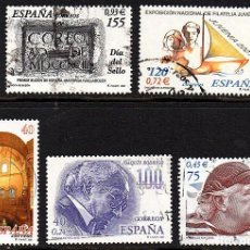 Sellos: SERIES COMPLETAS USADAS DE ESPAÑA - AÑO 2001 (LOTE 2). Lote 135398026