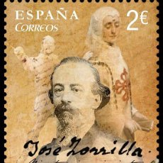Sellos: SPAIN 2017 - BICENT. OF THE BIRTH OF JOSÉ ZORRILLA MNH. Lote 137099386