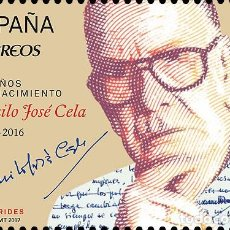 Sellos: SPAIN 2017 - 100 YEARS OF THE BIRTH OF CAMILO J. CELA MNH. Lote 137099406