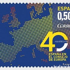 Sellos: SPAIN 2017 - 40TH ANNIVERSARY OF SPAIN IN THE COUNCIL OF EUROPE MNH. Lote 137099578