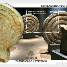 Sellos: SPAIN 2017 - ESTELAS GIGANTES OF CANTABRIA - MINIATURE SHEET MNH. Lote 137099678