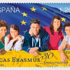Sellos: SPAIN 2017 - 30TH ANNIVERSARY OF THE ERASMUS SCHOLARSHIPS MNH. Lote 137099694