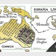 Sellos: SPAIN 2017 - DISCOVERERS OF OCEANIA PAIR MNH. Lote 137100190