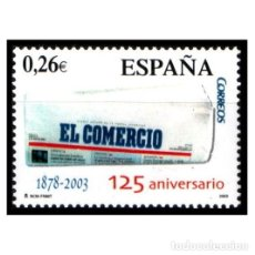Sellos: ESPAÑA 2003. EDIFIL 4012. 125 ANIVERSARIO DE EL COMERCIO. NUEVO** MNH. Lote 137166374