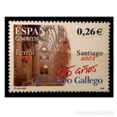 Sellos: ESPAÑA 2003. EDIFIL 4011. 150 AÑOS DEL CORREO GALLEGO. NUEVO** MNH. Lote 137167266