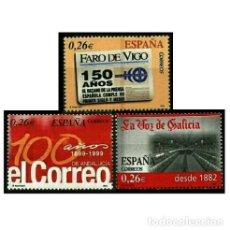 Sellos: ESPAÑA 2003. EDIFIL 4027/29 4029. DIARIOS CENTENARIOS. NUEVO** MNH. Lote 137170246