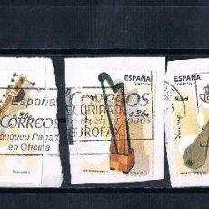 Sellos: ESPAÑA EUROS 2 LOTES DE SELLOS FRAGMENTOS MATASELLADOS 2 FOTOS. Lote 137459554