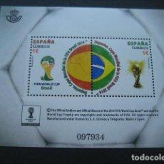 Sellos: FIFA WORLD CUP 2014 BRASIL. 2 €. FUTBOL COPA DEL MUNDO BRASIL 2014. Lote 137853830