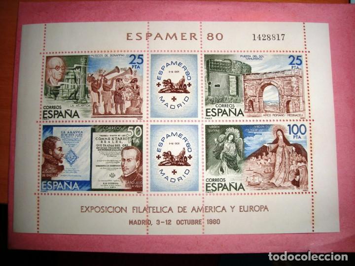 ESPAMER 80 - HOJA COMPLETA - MADRID 3 -12 DE OCTUBRE 1980 (Sellos - España - Juan Carlos I - Desde 1.975 a 1.985 - Nuevos)