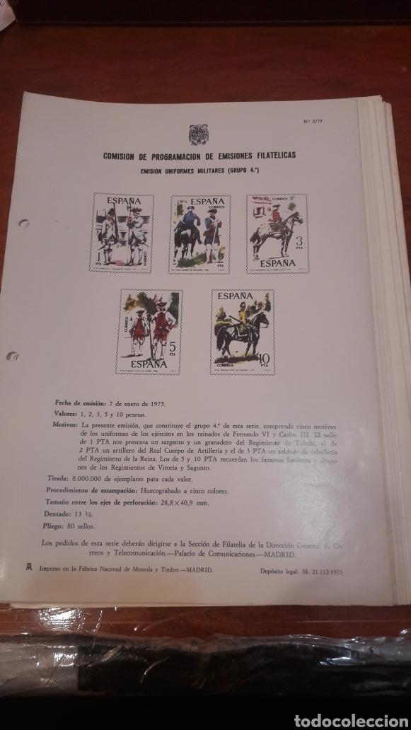 COMISION PROGRAMACION EMISIONES FILATELICAS N 1/75 A 22 DEL 1977 (Sellos - España - Juan Carlos I - Desde 1.975 a 1.985 - Cartas)