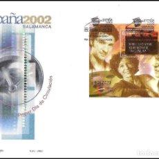 Sellos: ESPAÑA SOBRE PRIMER DIA AÑO 2002 EDIFIL 3944 EXP.MUNDIAL FILAT. JEUNES ESPAGNE HB. Lote 138883378