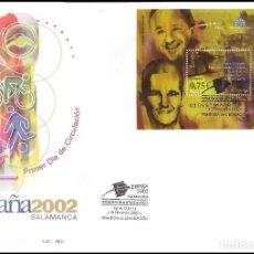 Sellos: ESPAÑA SOBRE PRIMER DIA AÑO 2002 EDIFIL 3948 EXP.MUNDIAL FILAT. JEUNES ESPAGNE HB. Lote 138883586