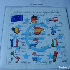 Sellos: SELLOS ESPAÑA AÑO 1999 H.B.PAISES DEL EURO LA DE LA FOTO NUEVOS VER TODOS MIS SELLOS. Lote 206873286