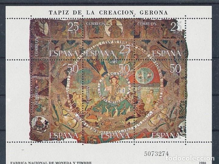 SELLOS ESPAÑA 1980 EDIFIL 2591** HB TAPIZ DE LA CREACIÓN GERONA (Sellos - España - Juan Carlos I - Desde 1.975 a 1.985 - Nuevos)