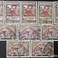 Sellos: EDIFIL 2593-94, 5 SERIES COMPLETAS, EN USADO, LIMPIOS.. Lote 139266298