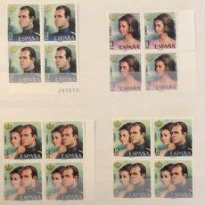 Sellos: ESPAÑA-1976 AÑO COMPLETO BLOQUE DE 4 EDIFIL 2302 AL 2380 MNH** NUEVO SIN FIJASELLOS. Lote 139495598