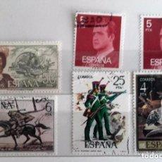 Sellos: ESPAÑA 1975, 6 SELLOS USADOS DIFERENTES . Lote 139761038