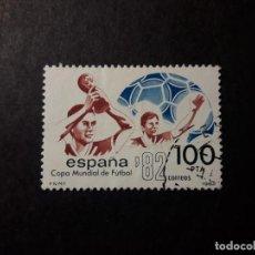 Sellos: SELLO MUNDIAL DE FUTBOL ESPAÑA 82 100 PESETAS USADO SIN CHARNELA 1982 EDIFIL 2664B DEPORTES. Lote 140065742