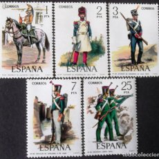 Sellos: EDIFIL 2350-54, UNIFORMES MILITARES, SERIE COMPLETA EN NUEVO, SIN CHARNELA.. Lote 140074886