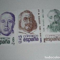 Sellos: ESPAÑA 1981 - CENTENARIOS PERSONAJES - COMPLETA - EDIFIL 2818 / 20 NUEVO. Lote 140121574