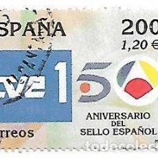 Sellos: ESPAÑA USADO. SELLO DE LA HOJA BLOQUE, TELEVISIÓN, AÑO 2000. Lote 140503158