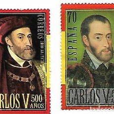 Sellos: ESPAÑA USADO. 2000 - 5º CENTENARIO DE CARLOS V. SERIE COMPLETA.. Lote 140507546