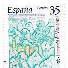 Sellos: SELLO ESPAÑA USADO. 2000. EDIFIL 3696. 500 AÑOS IMPRENTA DE MONTSERRAT.. Lote 140512718