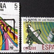 Sellos: EDIFIL 2522-23, SERIE COMPLETA EN USADO. TELECOMUNICACIONES.. Lote 140840782