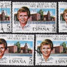 Sellos: EDIFIL 2548, 5 SERIES COMPLETAS EN USADO. CENTENARIOS: HOSPITAL DEL NIÑO JESÚS.. Lote 140841430