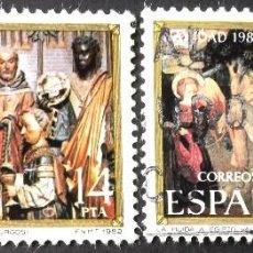 Sellos: EDIFIL 2681-82, SERIE COMPLETA EN USADO. NAVIDAD, AÑO 1982.. Lote 140842654