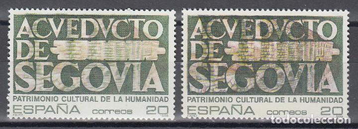 ESPAÑA,EDIFIL Nº 3040 , ERROR EN LA IMPRESIÓN DEL ACUEDUCTO. (Sellos - España - Juan Carlos I - Desde 1.986 a 1.999 - Nuevos)