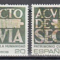 Sellos: ESPAÑA,EDIFIL Nº 3040 , ERROR EN LA IMPRESIÓN DE ACUEDUCTO.. Lote 141256202