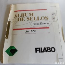 Sellos: ALBUM SELLOS EUROPA 1982 38 PAGINAS COMPLETO. Lote 141556206