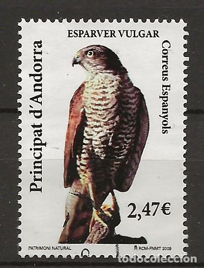 R60/ PRINCIPAT D´ANDORRA, ESPARVEZ VULGAR (Sellos - España - Juan Carlos I - Desde 2.000 - Usados)