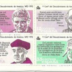 Sellos: CARNET ESPAÑA QUINTO CENTENARIO DESCUBRIMIENTO , DEL 1986 , MATASELLADO PRIMER DIA EDIFIL 2860 C. Lote 142603578
