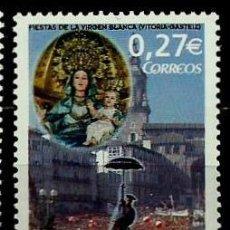 Sellos: ESPAÑA 2004- EDI 4111 (FIESTAS DE LA VIRGEN BLANCA) NUEVO***SIN/CH. Lote 142914530