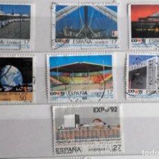 Sellos: ESPAÑA 1992, LOTE 7 SELLOS, USADOS EXPO 92. . Lote 143117190