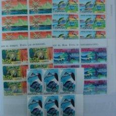 Sellos: *PROTECCION NATURALEZA* - 5 BLOQUES DE 6 SELLOS (5 VALORES) - EDIFIL 2469-73 - AÑO 1978 - NUEVO-LUJO. Lote 143625862