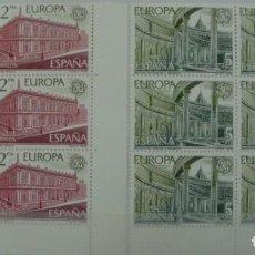 Sellos: **EUROPA 1978** - 2 BLOQUES DE 6 SELLOS (2 VALORES) - EDIFIL 2474-75 - AÑO 1978 - NUEVO-LUJO. Lote 143626674