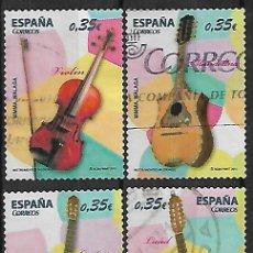 Sellos: SELLO DE ESPAÑA USADO. 2011.EDIFIL 4628/31. SERIE COMPLETA. INSTRUMENTOS MUSICALES.. Lote 143681842