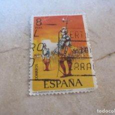 Sellos: SELLO USADO ESPAÑA 8 PESETAS SARGENTO DE INFANTERIA 1567. Lote 143857598