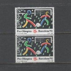 Sellos: R/18759, LOTE DE 2 SERIES NUEVAS ** MNH DE ESPAÑA -BARCELONA'92 III SERIE-, AÑO 1989,. Lote 144005862