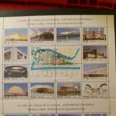 Sellos: COLECCION COMPLETA SELLOS NUEVOS POR DUPLICADO DE 1992 - ESPAÑA ANDORRA GUINEA . Lote 144011182