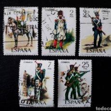 Sellos: ESPAÑA. EDIFIL 2350/4. SERIE COMPLETA USADA. UNIFORMES MILITARES. GRUPO VI. 1976.. Lote 144221229