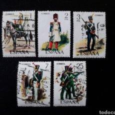 Sellos: ESPAÑA. EDIFIL 2350/4. SERIE COMPLETA USADA. UNIFORMES MILITARES. GRUPO VI. 1976.. Lote 144221506