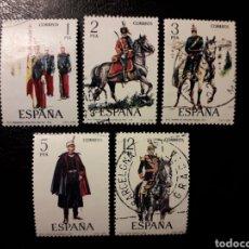 Sellos: ESPAÑA. EDIFIL 2451/5. SERIE COMPLETA USADA. UNIFORMES MILITARES. GRUPO IX. 1978.. Lote 144251704