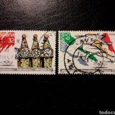 Selos: ESPAÑA. EDIFIL 2908/09. SERIE COMPLETA USADA. DEPORTES. NOMINACIÓN OLIMPIADA BARCELONA 92. 1987.. Lote 144296160