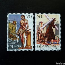 Selos: ESPAÑA. EDIFIL 2933/4. SERIE COMPLETA USADA. GRANDES FIESTAS POPULARES. 1988. SEMANA SANTA.. Lote 144457041