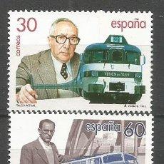 Selos: ESPAÑA TREN TALGO ALEJANDRO GOICOECHEA EDIFIL NUM. 3347/3348 ** SERIE COMPLETA SIN FIJASELLOS. Lote 238477965