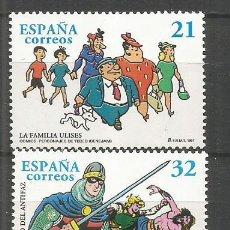 Sellos: ESPAÑA COMICS PERSONAJES DEL TEBEO EDIFIL NUM. 3486/3487 ** SERIE COMPLETA SIN FIJASELLOS. Lote 195008853